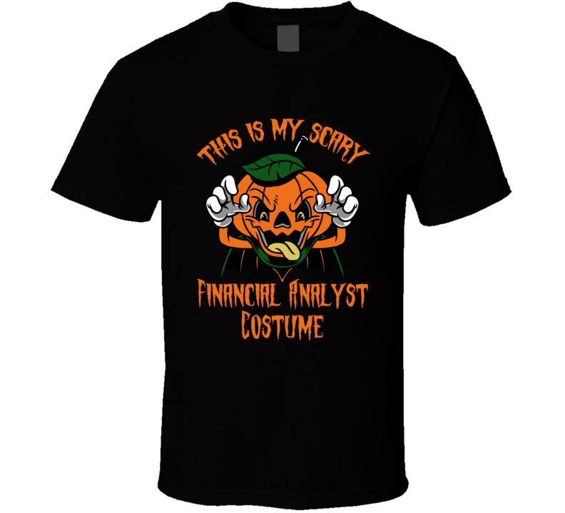 Scary Financial Analyst Halloween Costume T Shirt