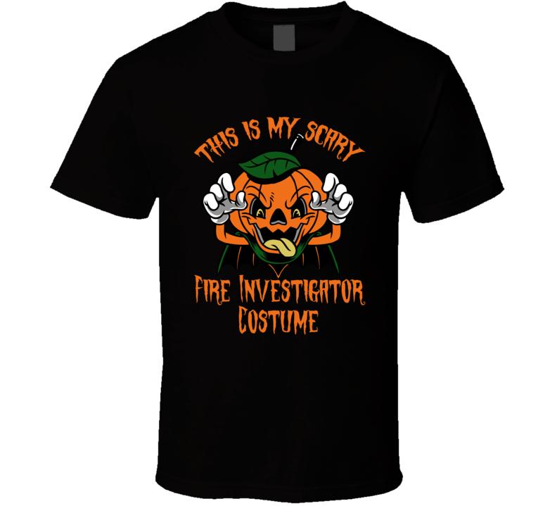 Scary Fire Investigator Halloween Costume T Shirt