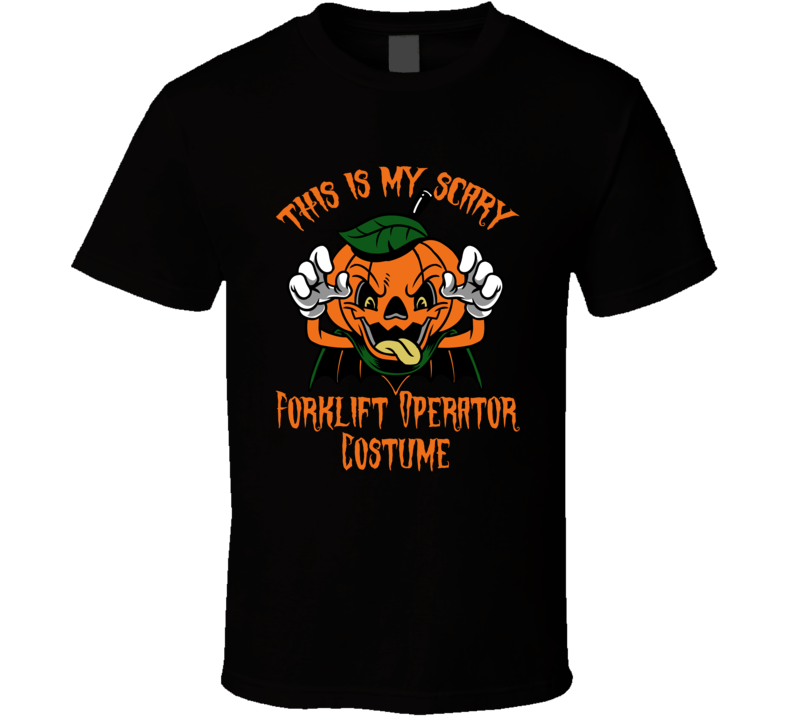 Scary Forklift Operator Halloween Costume T Shirt