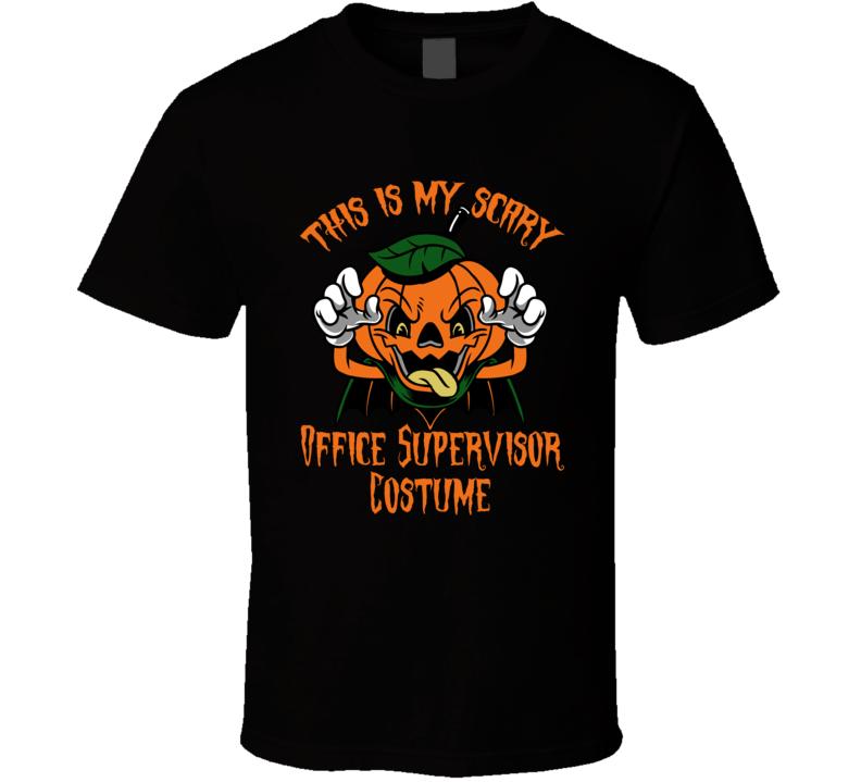 Scary Office Supervisor Halloween Costume T Shirt