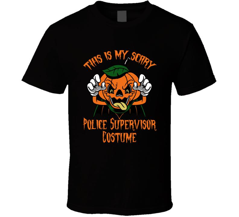 Scary Police Supervisor Halloween Costume T Shirt