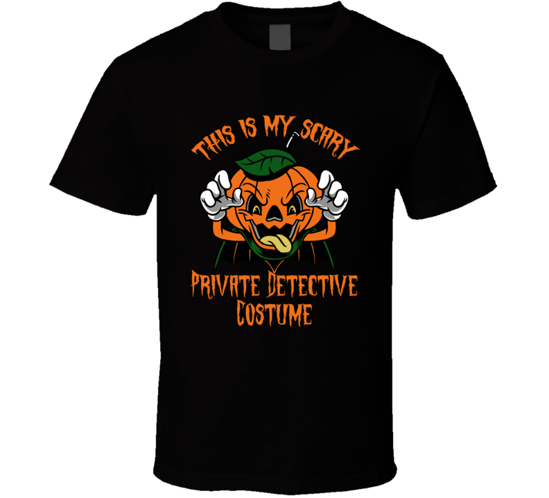 Scary Private Detective Halloween Costume T Shirt