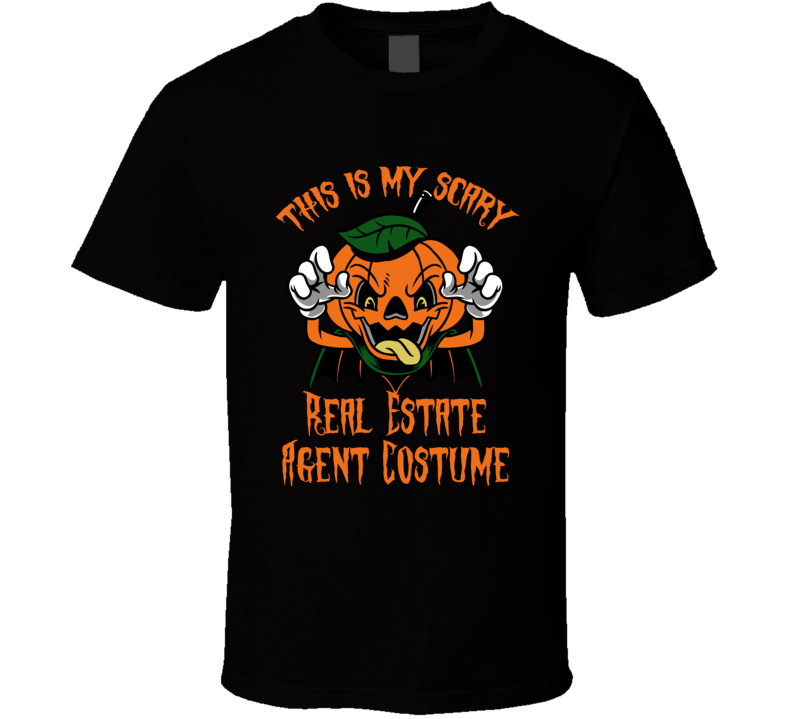 Scary Real Estate Agent Halloween Costume T Shirt