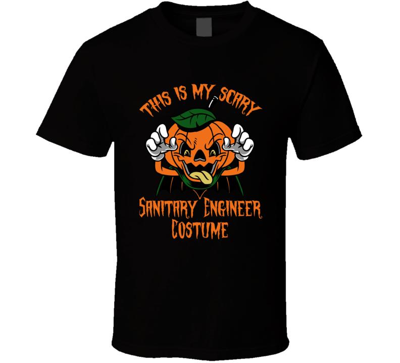 Scary Sanitary Engineer Halloween Costume T Shirt
