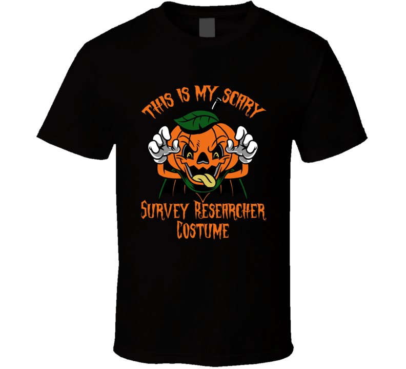 Scary Survey Researcher Halloween Costume T Shirt