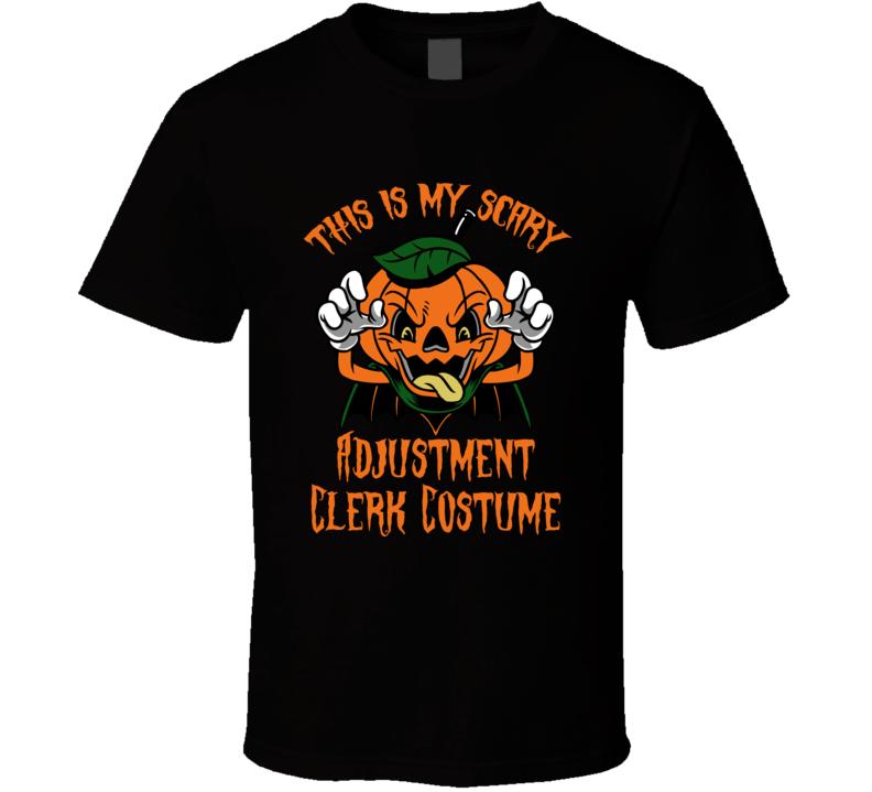 Scary Adjustment Clerk Halloween Costume T Shirt
