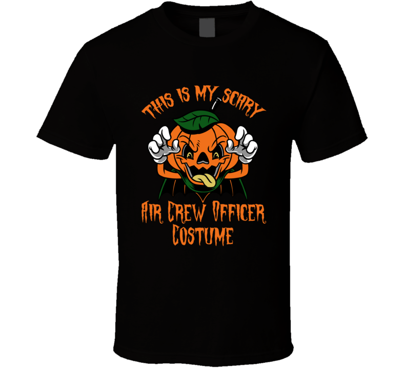 Scary Air Crew Officer Halloween Costume T Shirt