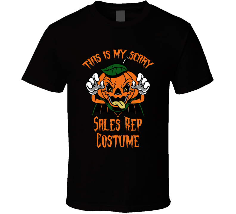 Scary Sales Rep Halloween Costume T Shirt