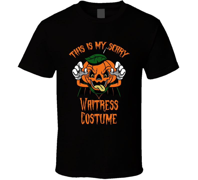 Scary Waitress Halloween Costume T Shirt