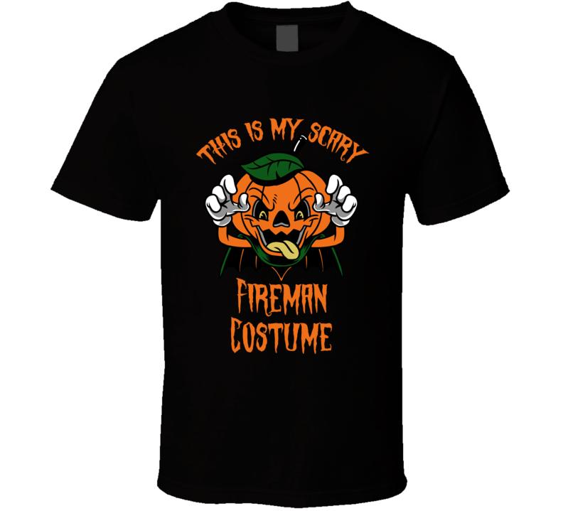 Scary Fireman Halloween Costume T Shirt
