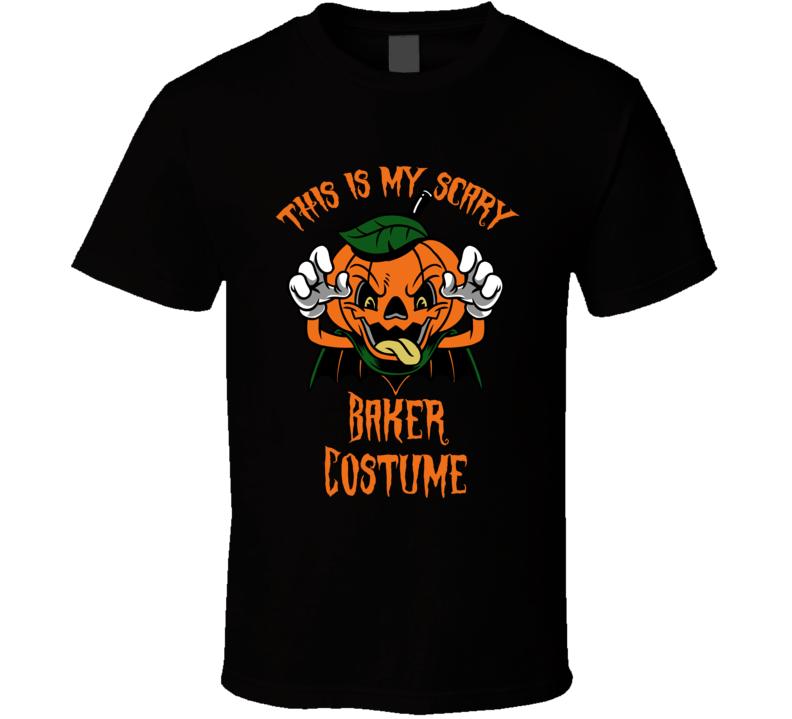 Scary Baker Halloween Costume T Shirt