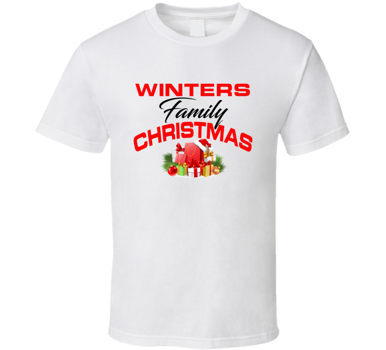 Winters Family Christmas T Shirt