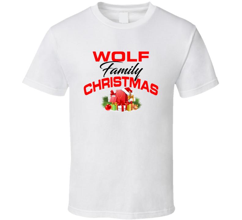 Wolf Family Christmas T Shirt