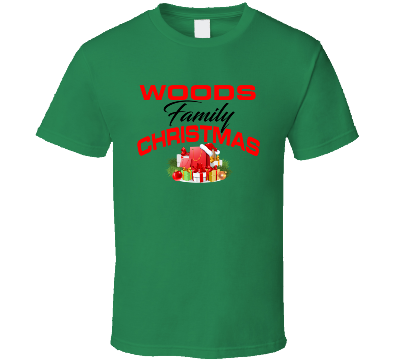 Woods Family Christmas T Shirt