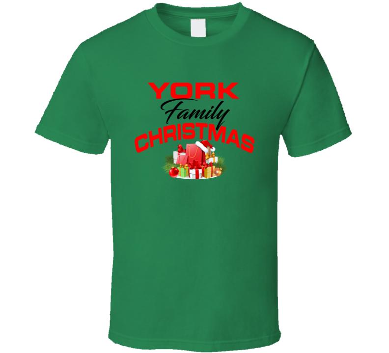 York Family Christmas T Shirt