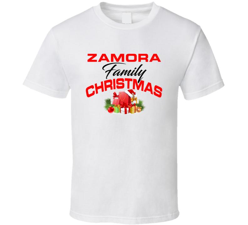 Zamora Family Christmas T Shirt