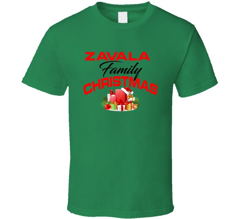 Zavala Family Christmas T Shirt