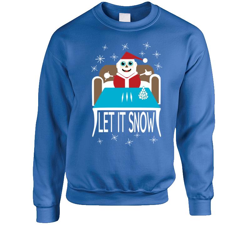 Let It Snow Cocaine Santa Crewneck Sweatshirt Crewneck Sweatshirt