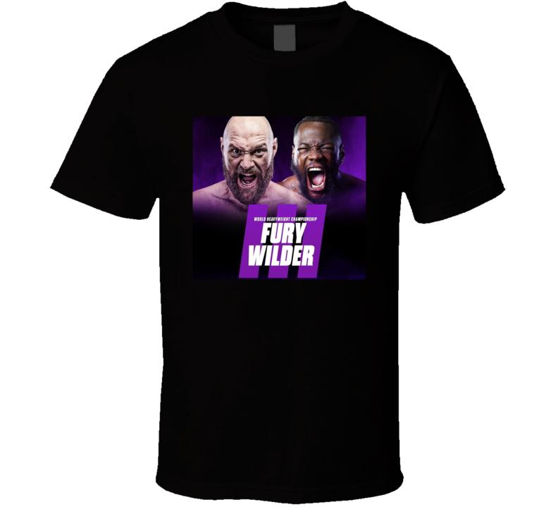 Fury Vs Wilder 3 Boxing Match Fight Fan T Shirt