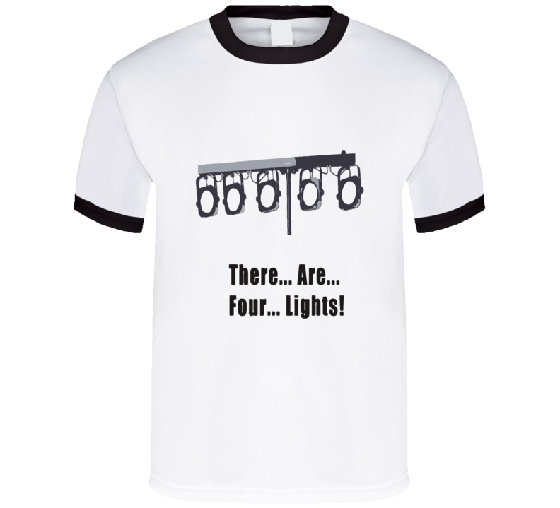 There are four lights t-shirt Star Trek Picard prisoner episode COOL tv shirts sci-fi geek chic