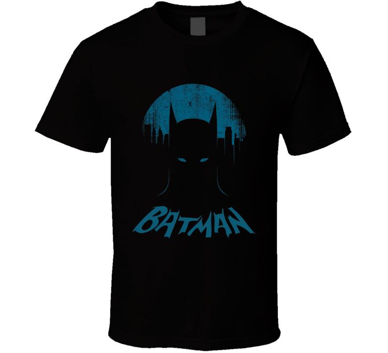 Batman vintage style Batman with retro logo distressed Comic book TV movies super hero t-shirt