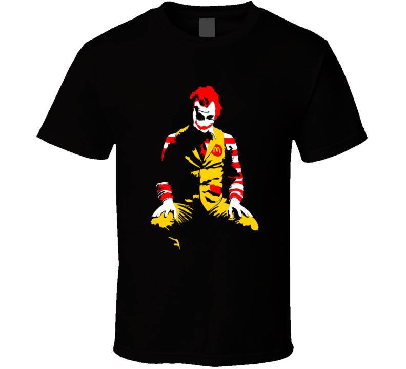 Ronald McDonald Joker Parody Halloween Costume T Shirt