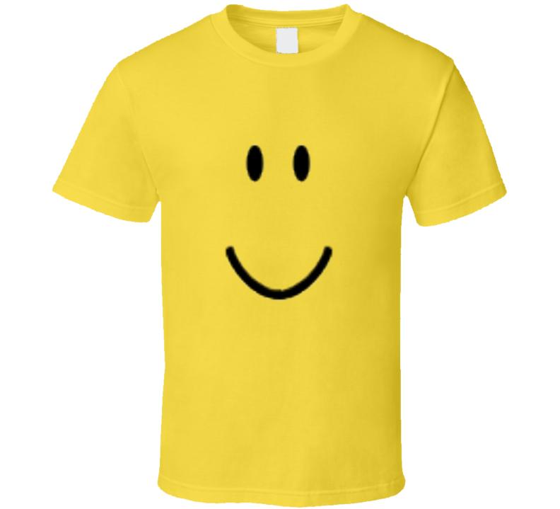 Roblox Smiley Face Fan Cool Fun Retro Gaming Meme T Shirt