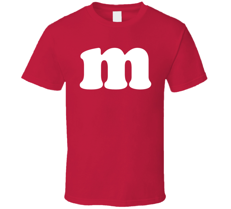 M&m Candy Halloween Couples Family Group Costume Red T Shirt