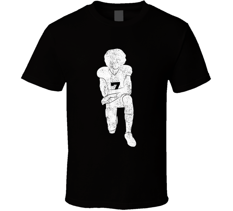 Colin Kaepernick Kneeling Black T Shirt