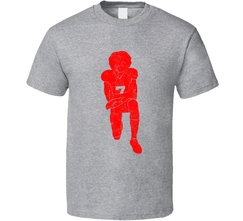 Colin Kaepernick Kneeling Sport Grey T Shirt