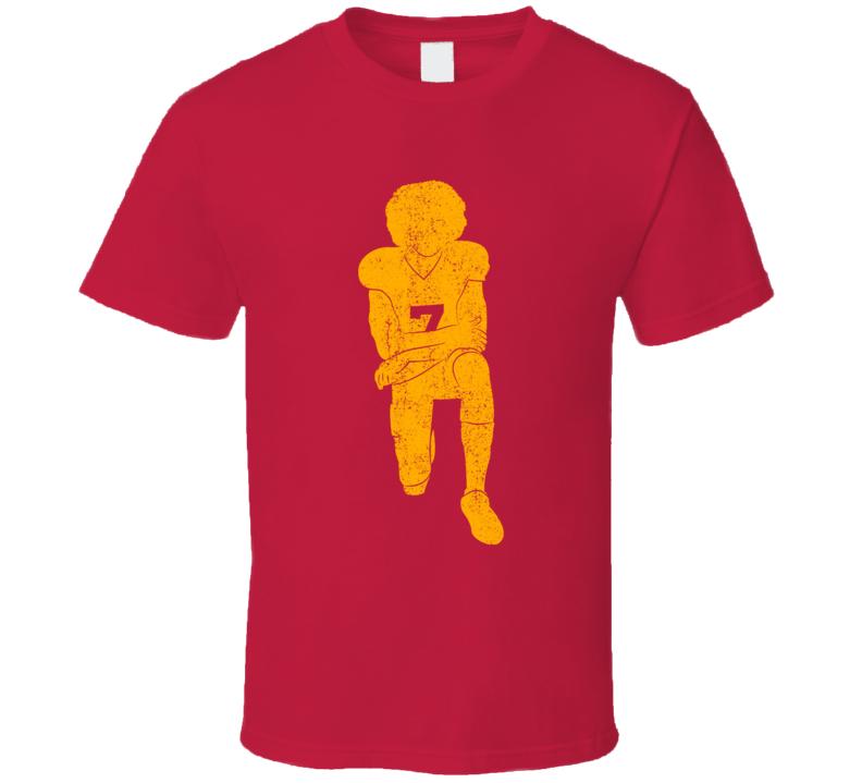 Colin Kaepernick Kneeling Red T Shirt