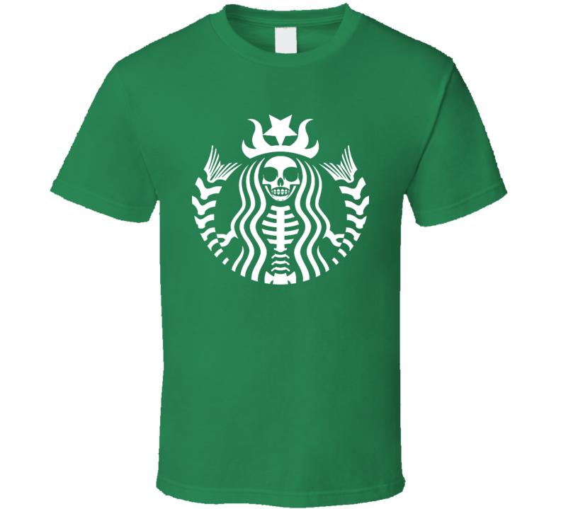 Starbucks Skull Skeleton Halloween Theme Coffee Lover Fan Gift T Shirt