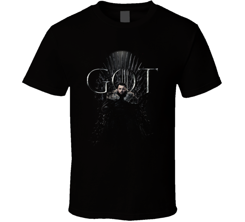 Sam Tarly Sitting On The Iron Throne Game Of Thrones Got Season 8 Poster Fan Gift T Shirt