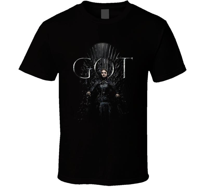 Sansa Stark Sitting On The Iron Throne Game Of Thrones Got Season 8 Poster Fan Gift T Shirt