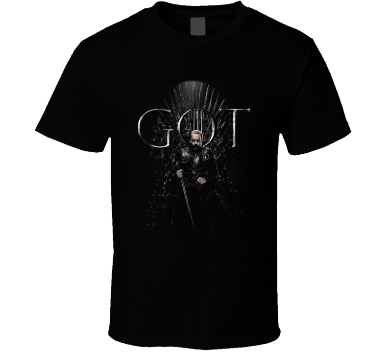 Ser Jorah Sitting On The Iron Throne Game Of Thrones Got Season 8 Poster Fan Gift T Shirt
