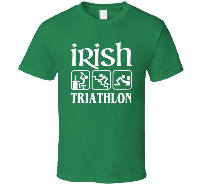 Irish Tryathlon Funny St Patrick's Day T Shirt