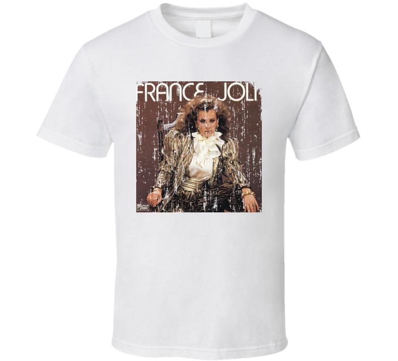France Joli 70s Disco Funk Artist Old School Music Worn Look T Shirt