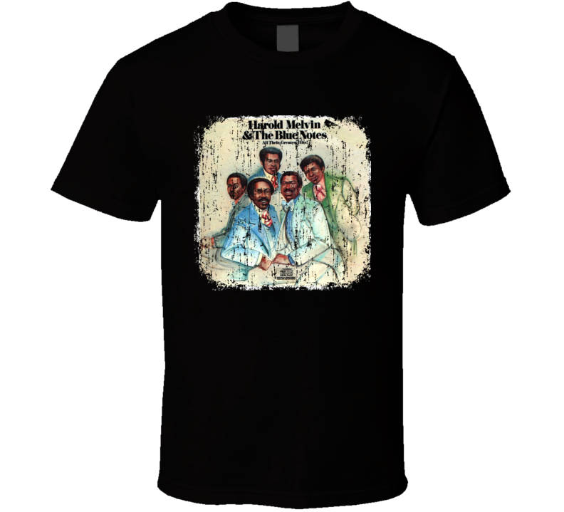 Harold Melvin & Blue Notes 70s Funk Disco Old School Worn Look T Shirt