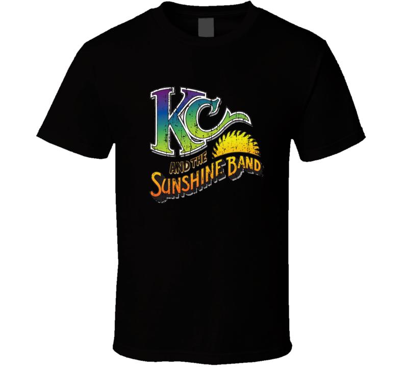 KC & Sunshine Band 70s Funk Disco Old School Music Worn Look T Shirt