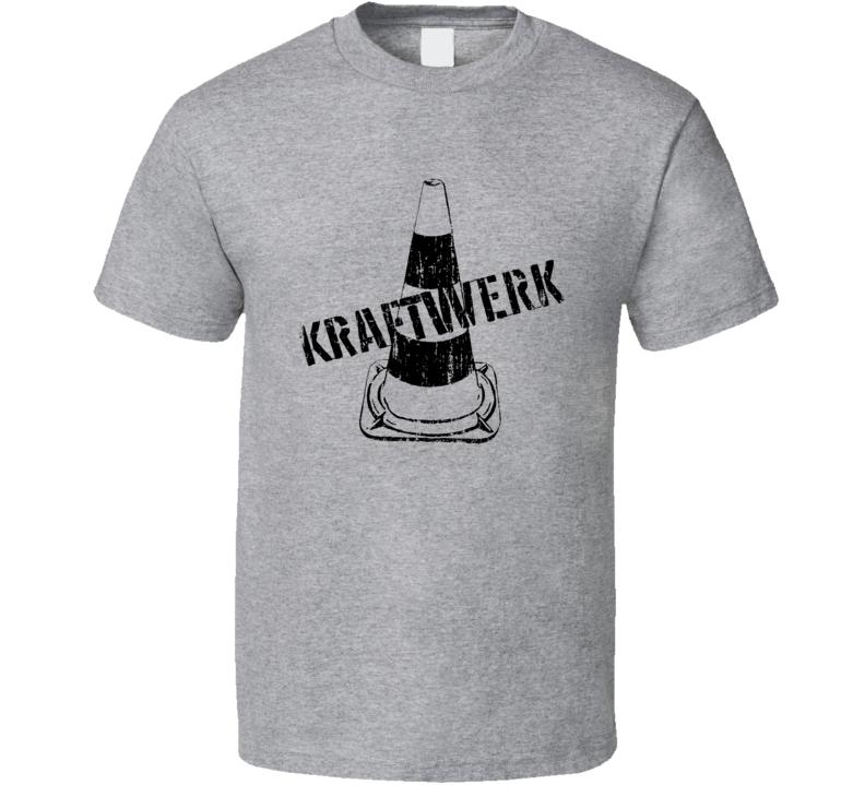 Kraftwerk 70s Classic Rock n Roll Vintage Band Worn Look Music T Shirt