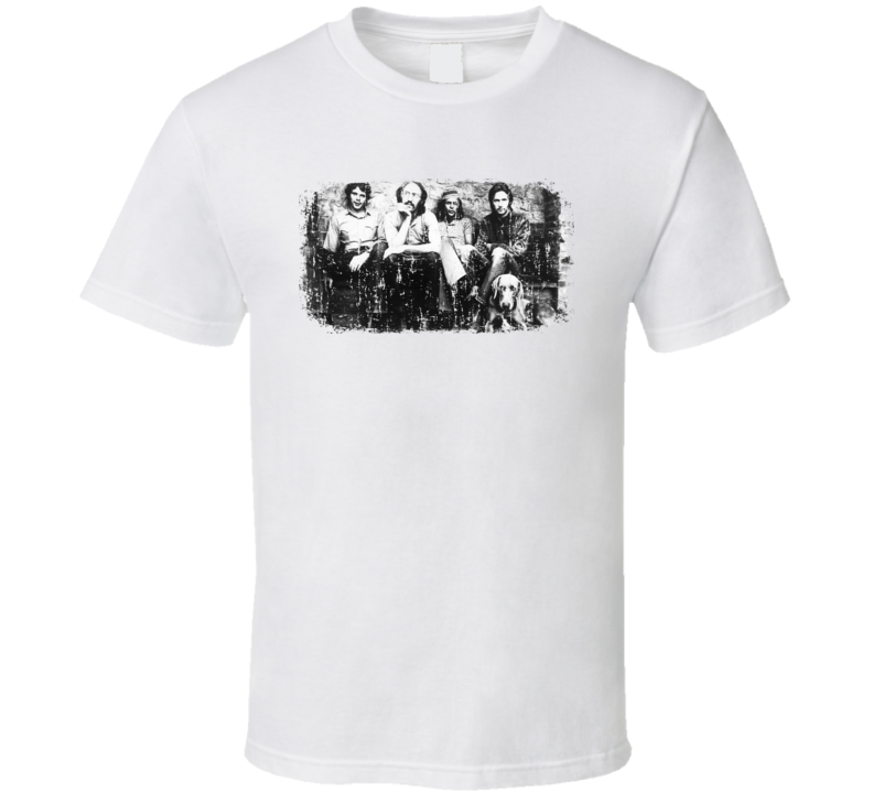 Derek and The Dominos 70s Classic Rock Band Worn Look Music T Shirt