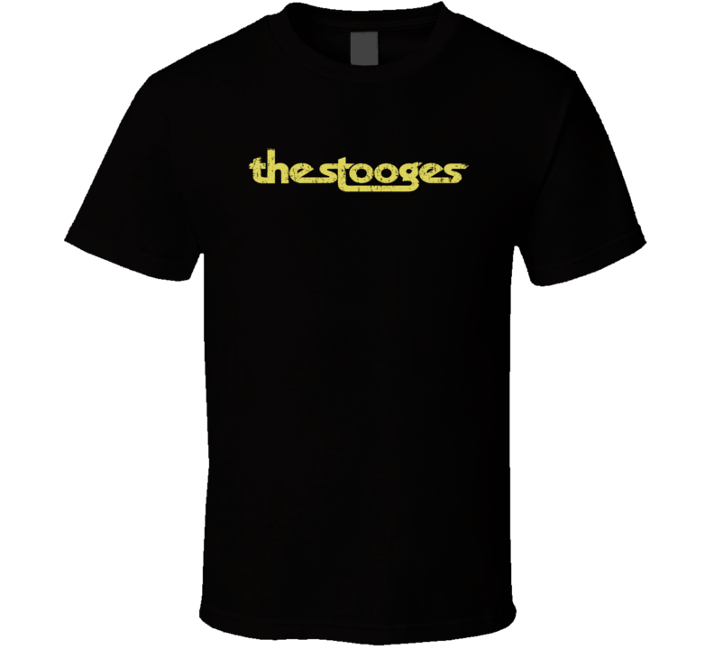 The Stooges 70s Classic Rock Vintage Band Worn Look Music T Shirt