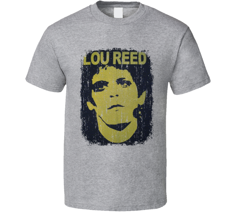 Lou Reed 70s Classic Rock n Roll Vintage Band Worn Look Music T Shirt