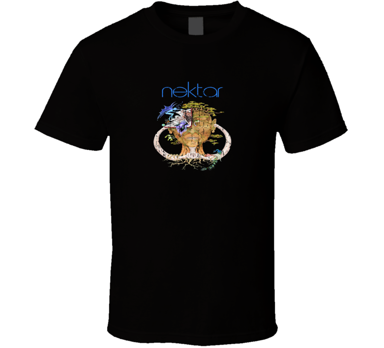 Nektar 70s Classic Rock n Roll Vintage Band Worn Look Music T Shirt