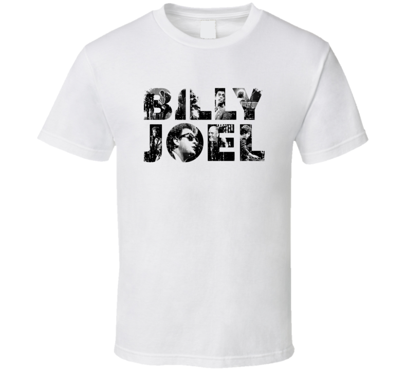 Billy Joel 70s Classic Rock n Roll Vintage Worn Look Music T Shirt