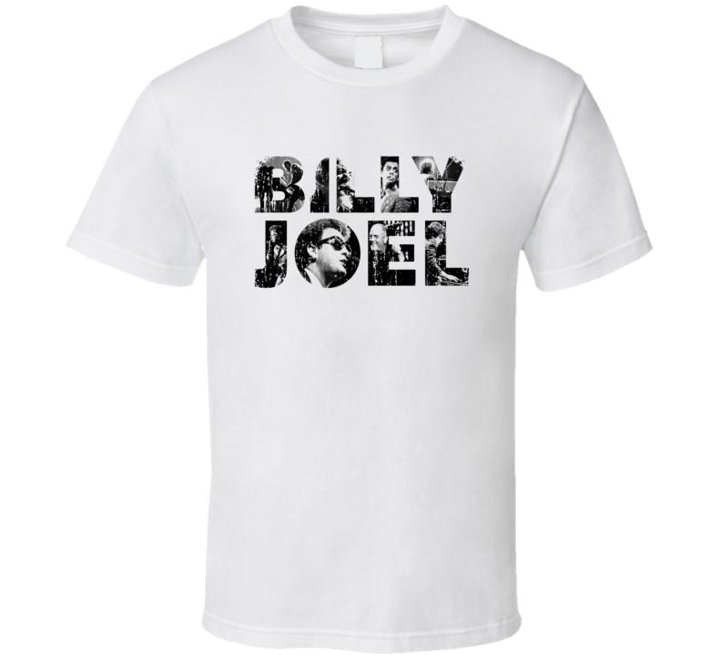 Billy Joel 70s Classic Rock n Roll Vintage Worn Look Music T Shirt