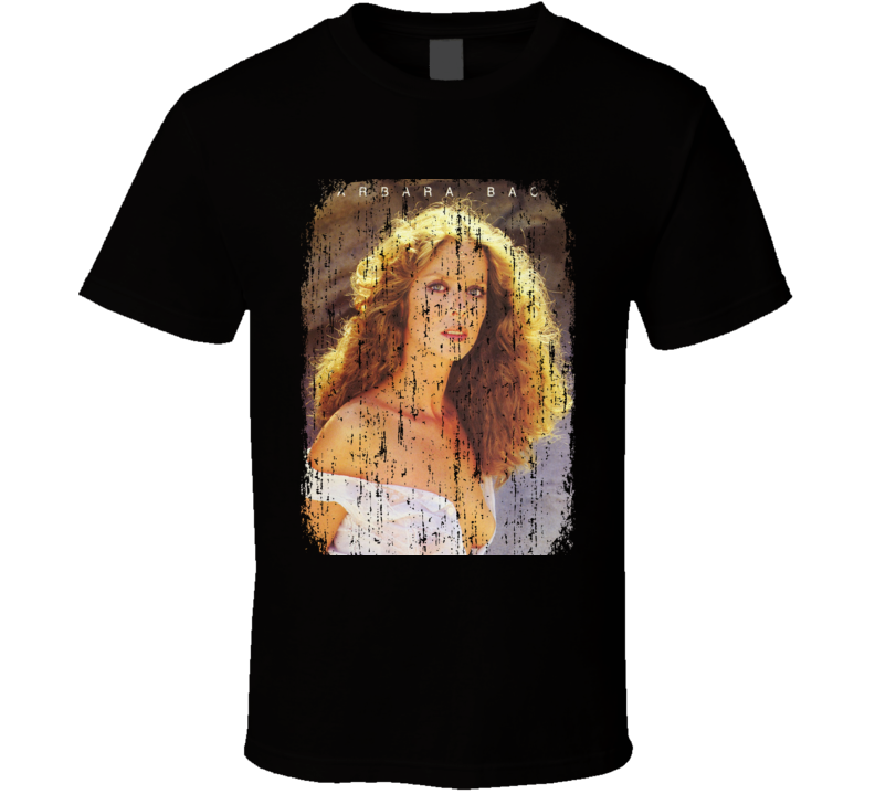 Barbara Bach 70s Celebrity Icon Sexy Vintage Worn Look T Shirt