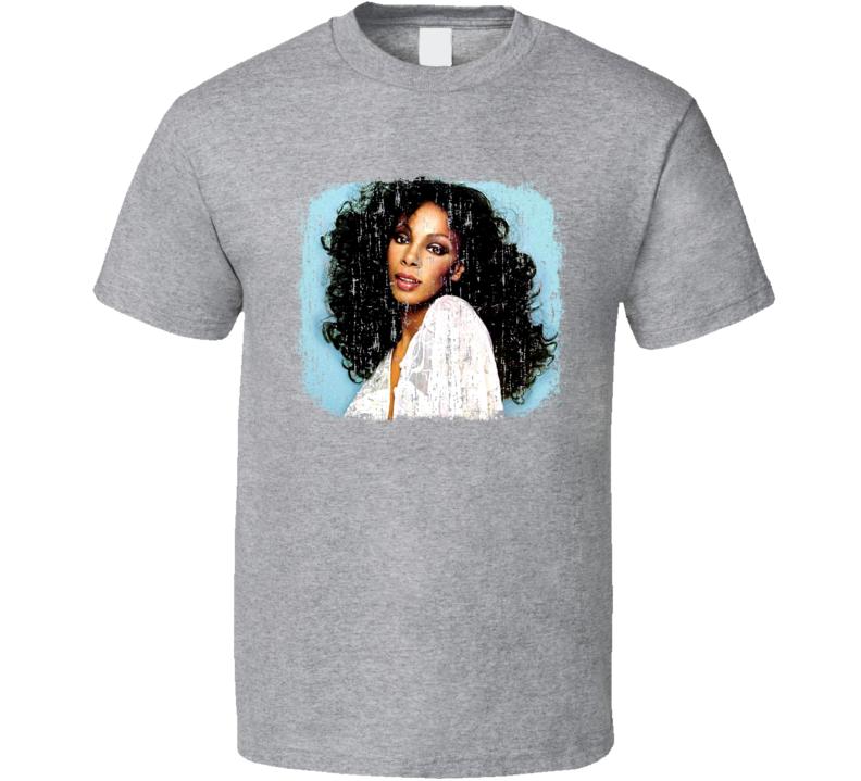 Donna Summer 70s Celebrity Icon Sexy Vintage Worn Look T Shirt