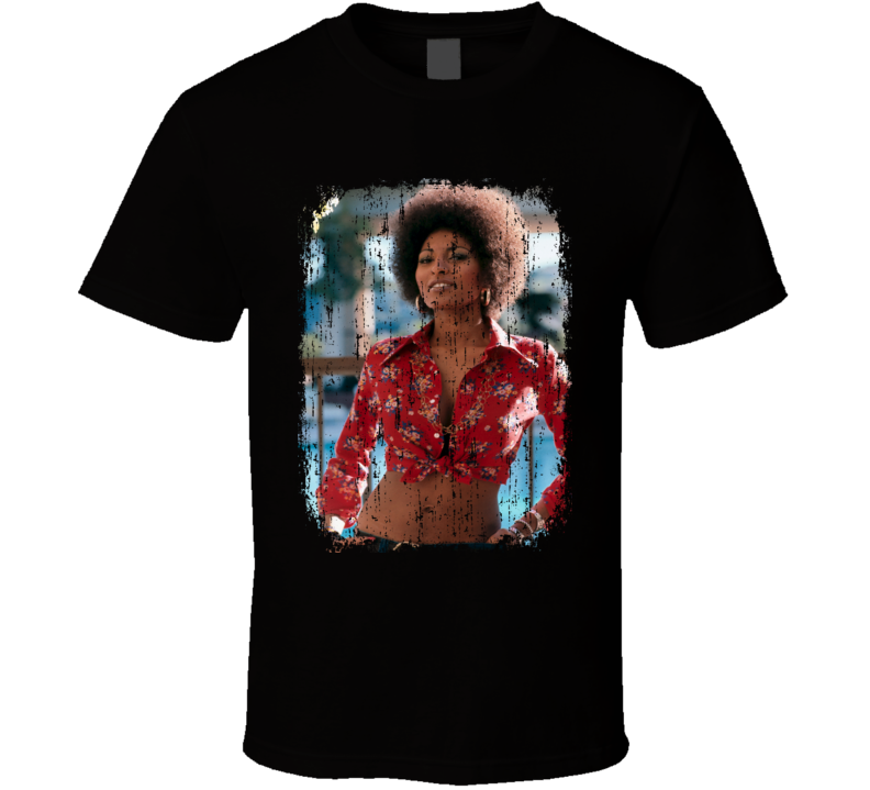Pam Grier 70s Celebrity Icon Sexy Vintage Worn Look T Shirt