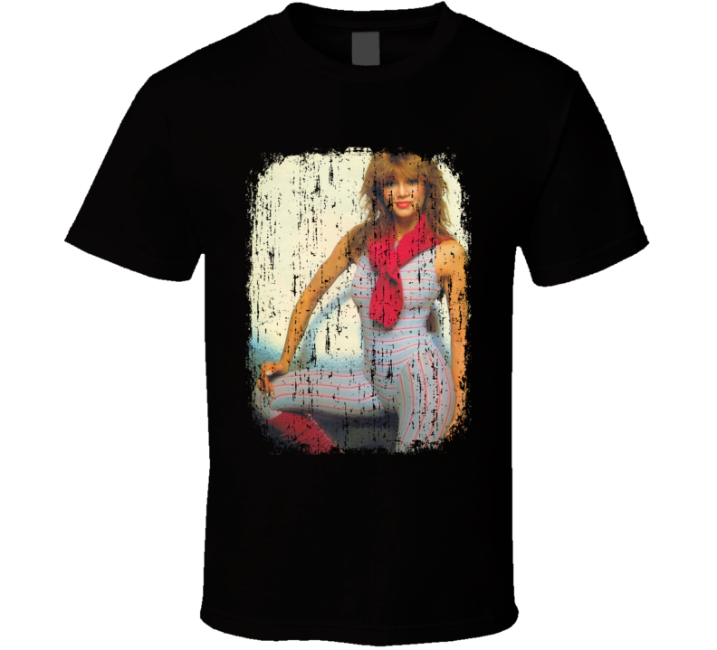 Victoria Principal 70s Celebrity Icon Sexy Vintage Worn Look T Shirt